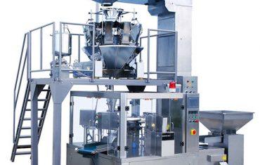 Confezionatrice automatica per buste con cerniera rotante per caffè in grani
