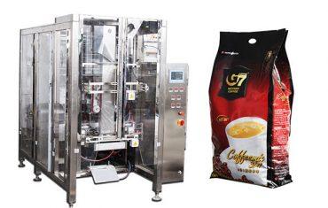macchina per confezionamento di sigilli di riempimento di sacchetti quad-caffè