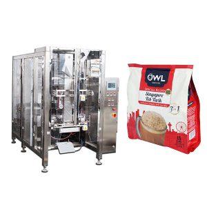 Macchina imballatrice automatica per polvere di caffè con valvola di degassamento