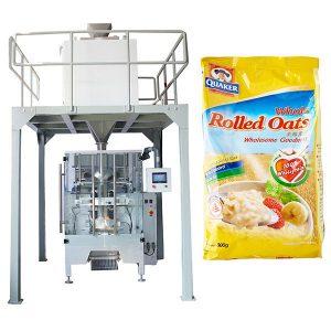 Macchina per imballare farina d'avena automatica con peso lineare