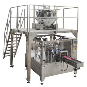 Macchina imballatrice della guarnizione di riempimento della borsa della chiusura lampo automatica rotatoria per i dadi dei semi
