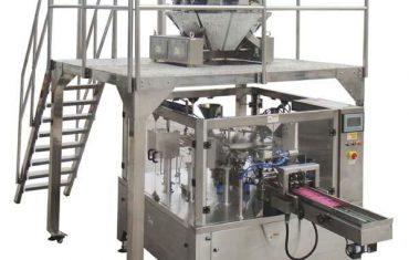 macchina d'imballaggio rotatoria della guarnizione della chiusura del sacchetto della chiusura lampo automatica per i dadi delle sementi
