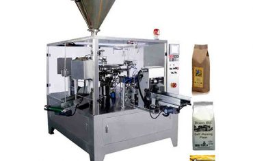 Automatic rotary packaging machine for pre-made bag